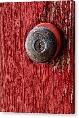 Behind The Red Door Canvas Print by Tom Druin