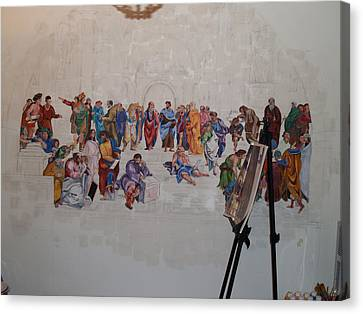 Behind The Scenes Mural 7 Canvas Print