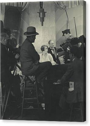 Behind The Scenes Canvas Print - Behind The Scenes Of A Cinema Workshop by Edward Steichen
