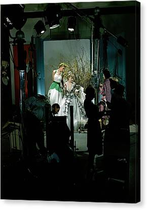 Behind The Scenes Canvas Print - Behind The Scenes Of A Fashion Shoot by Edward Steichen