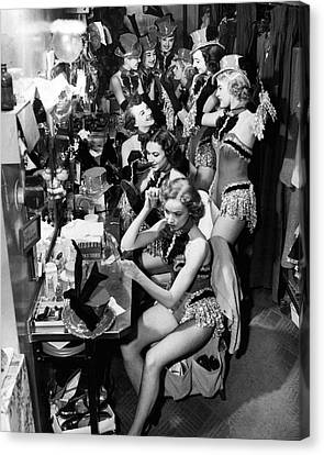 Behind The Scenes With The Famous Rockettes Canvas Print by Retro Images Archive
