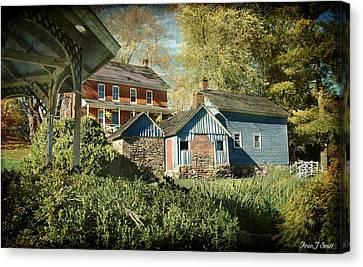 Behind The Smokehouse Canvas Print by Fran J Scott