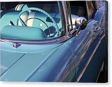 Behind The Wheel Canvas Print by Luke Moore