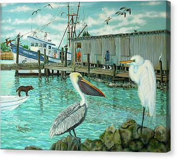 Behind Wando Shrimp Co. Canvas Print