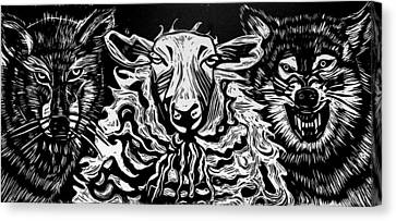 Behold I Send You Out As Sheep Among Wolves Canvas Print by Sarah Taylor Ko