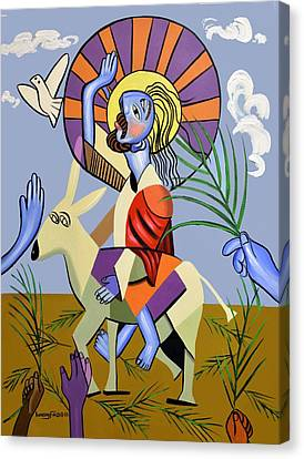 Behold The Lamb Of God Canvas Print by Anthony Falbo