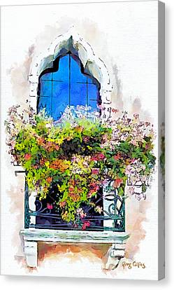Canvas Print featuring the painting Bei Fiori by Greg Collins