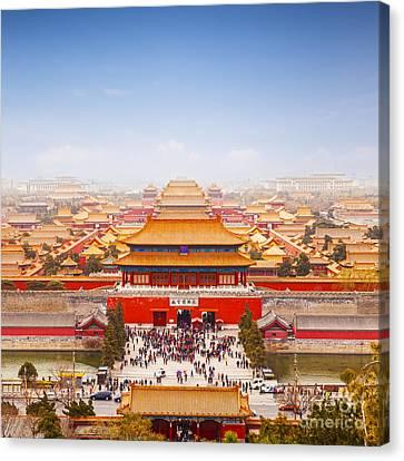 Beijing Forbidden City Skyline Canvas Print