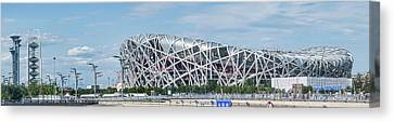 Beijing National Stadium, Olympic Canvas Print by Panoramic Images
