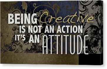 Being Creative Canvas Print