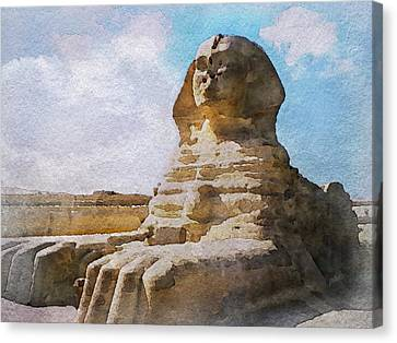 Canvas Print - Being Ignored By The Sphinx by Philip White