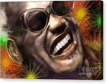 Being Ray Charles1 Canvas Print by Reggie Duffie