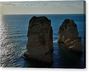 Beirut Pigeon Rocks Canvas Print