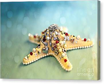 Bejeweled Starfish Canvas Print by Sylvia Cook