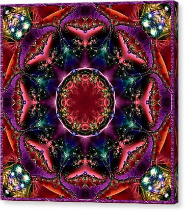 Bejewelled Mandala No 3 Canvas Print by Charmaine Zoe