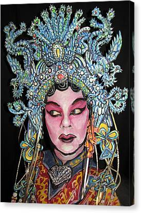 Bejing Opera Face Canvas Print by James Kuhn