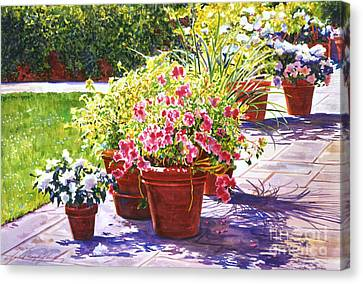 Bel-air Welcome Garden Canvas Print by David Lloyd Glover
