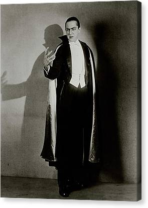 Bela Lugosi As Dracula Canvas Print by Florence Vandamm