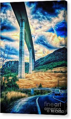Beleau Millau Viaduct France Canvas Print by Jack Torcello