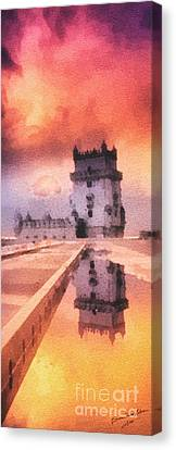 Belem Tower Canvas Print by Mo T