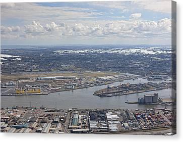 Belfast City & Docks Canvas Print by Colin Bailie
