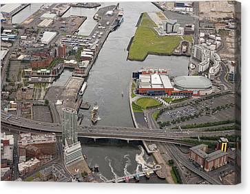 Belfast Docks, Belfast Canvas Print by Colin Bailie