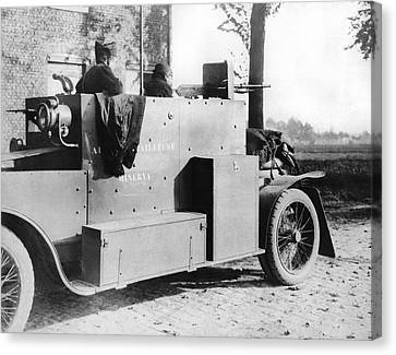 Belgian Armored Car Canvas Print by Underwood Archives