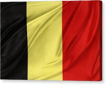 Belgium Flag Canvas Print by Les Cunliffe