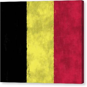 Belgium Flag Canvas Print by World Art Prints And Designs