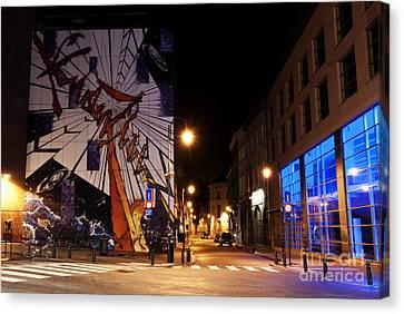 Belgium Street Art Canvas Print by Juli Scalzi
