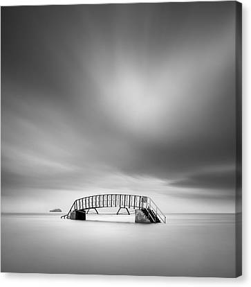 Belhaven Bridge Canvas Print by Dave Bowman