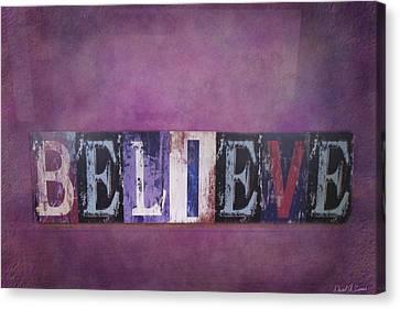 Believe Canvas Print by David Simons