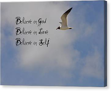 Believe In Canvas Print by Bill Cannon