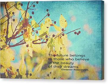 Believe In Dreams Canvas Print by Toni Hopper