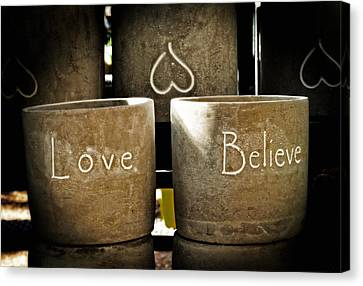Believe In Love - Photography By William Patrick And Sharon Cummings Canvas Print