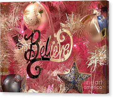 Believe In Pink Canvas Print