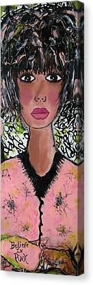 Believe In Pink Canvas Print by Victoria  Johns