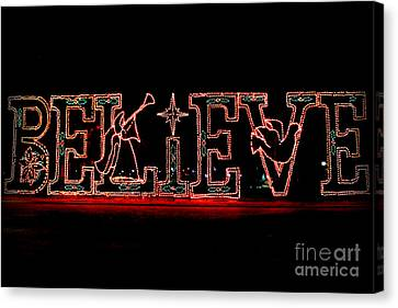Believe  Canvas Print by Kathy  White
