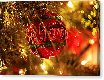 Believe In Christmas Canvas Print