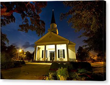 Belin Memorial Umc After Dark Canvas Print by Bill Barber
