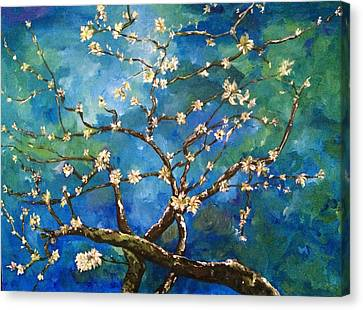 Belinda's Almond Blossoms Canvas Print by Belinda Low