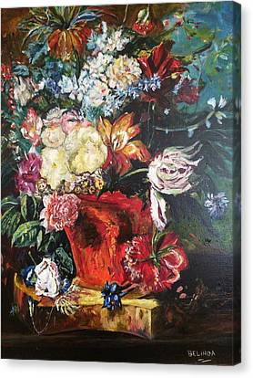 Life Is A Bouquet Of Flowers  Canvas Print