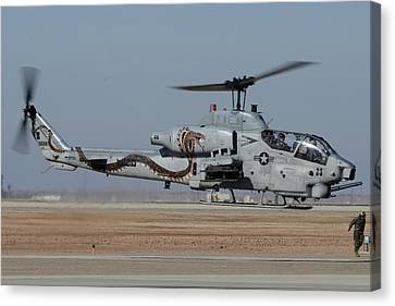 Bell-boeing Ah-1w Cobra Buno 165369 Naf El Centro February 19 2015 Canvas Print by Brian Lockett