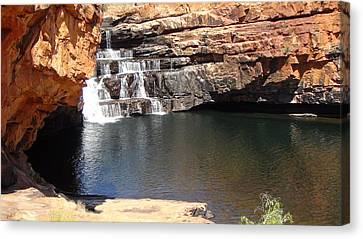 Canvas Print featuring the photograph Bell Falls by Tony Mathews