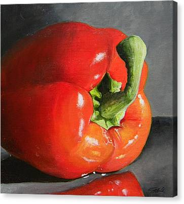 Bell Pepper Mini Canvas Print by Steve Goad