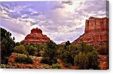Bell Rock Vortex Painting Canvas Print by Bob and Nadine Johnston