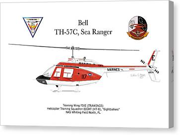 Bell Th-57c Sea Ranger Canvas Print by Arthur Eggers
