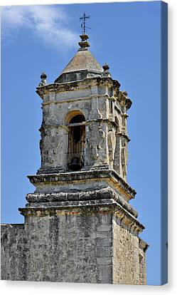 Bell Tower Mission San Jose Tx Canvas Print by Christine Till