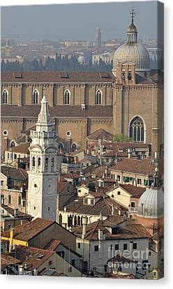 Canvas Print - Bell Tower Of Santa Maria Formosa And Red Tiled Roofs by Sami Sarkis