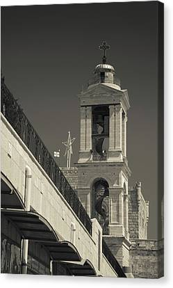 Nativity Canvas Print - Bell Tower Of The Church by Panoramic Images